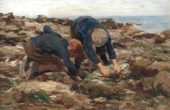 The Cockle Pickers | William Marshall Brown | Oil Painting