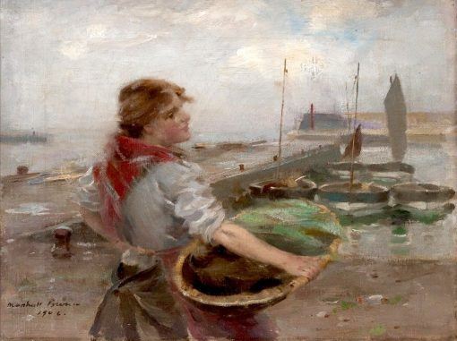 Unloading the Catch   William Marshall Brown   Oil Painting