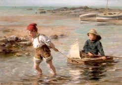The Young Mariners | William Marshall Brown | Oil Painting