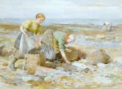 Gathering Whelks | William Marshall Brown | Oil Painting