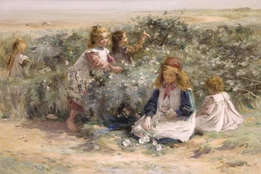 Seaside Roses   William Marshall Brown   Oil Painting