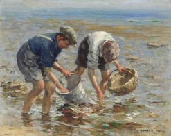 Bait Gathering | William Marshall Brown | Oil Painting