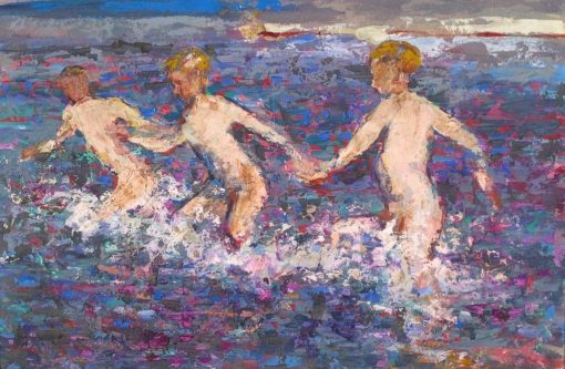 Boys Bathing | William Marshall Brown | Oil Painting
