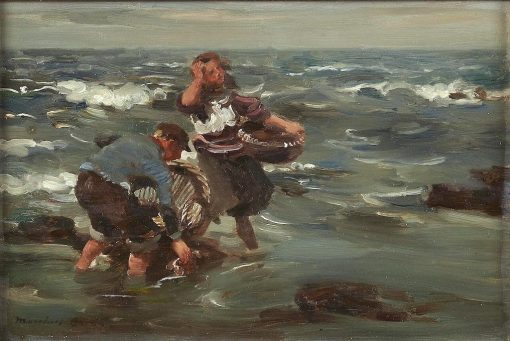 The Dulse Gatherers   William Marshall Brown   Oil Painting