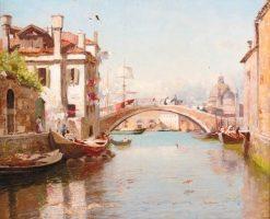 A Venetian Backwater | Sir David Scott Murray | Oil Painting