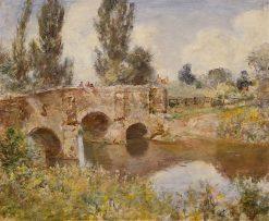 Fishermen on a Stone Bridge | Sir David Scott Murray | Oil Painting