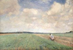 Figures in the Fields | Sir David Scott Murray | Oil Painting