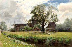 In Flowery Mead | Sir David Scott Murray | Oil Painting