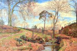 Country Scene | Sir David Scott Murray | Oil Painting