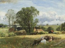 Picnic at the Farm | Sir David Scott Murray | Oil Painting