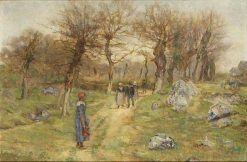 A Walk in the Country | Sir David Scott Murray | Oil Painting