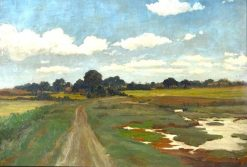 Pastoral Landscape with Country Lane and Marsh | Sir David Scott Murray | Oil Painting