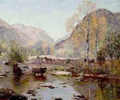 Autumn Gently Tints the Glen | Sir David Scott Murray | Oil Painting