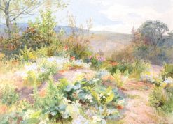 At the Bottom of my Garden | James Aumonier | Oil Painting