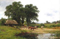 Rural England   James Aumonier   Oil Painting