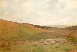 Sheep in a Landscape | James Aumonier | Oil Painting