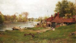 The Thames at Pangbournw | James Aumonier | Oil Painting