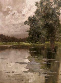 Forest and Lake | Enrique Serra y Auque | Oil Painting