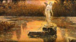 Pontine Lagoon | Enrique Serra y Auque | Oil Painting