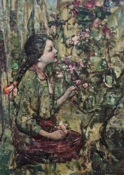 Picking Blossoms | Edward Atkinson Hornel | Oil Painting