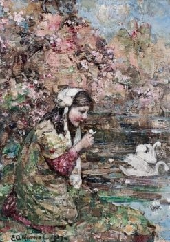 Blossom Time | Edward Atkinson Hornel | Oil Painting