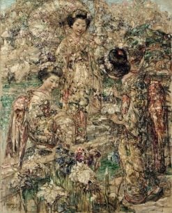 A Japanese Garden | Edward Atkinson Hornel | Oil Painting
