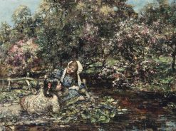 At the River | Edward Atkinson Hornel | Oil Painting