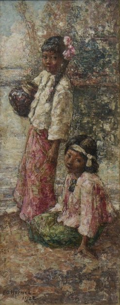 Burmese Girls | Edward Atkinson Hornel | Oil Painting