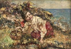 A Rare Posy | Edward Atkinson Hornel | Oil Painting