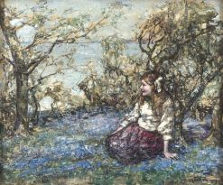 Amongst the Bluebells | Edward Atkinson Hornel | Oil Painting