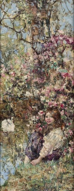 A Quiet Nook | Edward Atkinson Hornel | Oil Painting