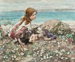 The Peacock's Feather | Edward Atkinson Hornel | Oil Painting