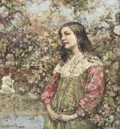 The Swan Pond | Edward Atkinson Hornel | Oil Painting