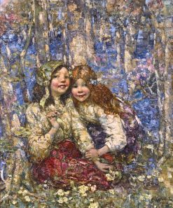 The Bluebell Wood | Edward Atkinson Hornel | Oil Painting