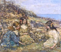 Blowing the Dandelion | Edward Atkinson Hornel | Oil Painting