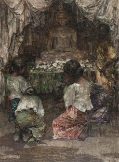 Before the Buddha | Edward Atkinson Hornel | Oil Painting