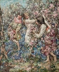 Blossom and Bluebells | Edward Atkinson Hornel | Oil Painting