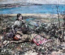 At Brighouse Bay | Edward Atkinson Hornel | Oil Painting
