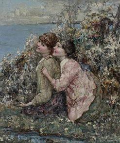 The Bird's Nest | Edward Atkinson Hornel | Oil Painting