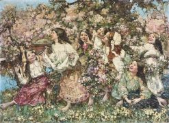 A Spring-Time Rondeley | Edward Atkinson Hornel | Oil Painting