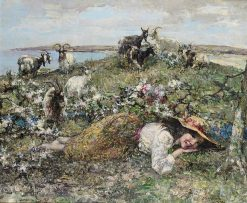 The Little Goatherd | Edward Atkinson Hornel | Oil Painting