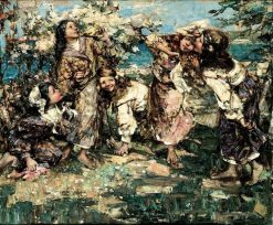 April | Edward Atkinson Hornel | Oil Painting