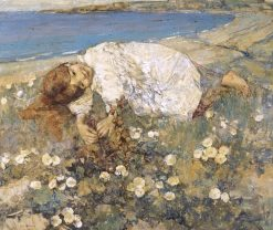 Reverie   Edward Atkinson Hornel   Oil Painting