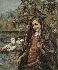 The Lily Pond | Edward Atkinson Hornel | Oil Painting