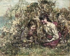Bird Nesting | Edward Atkinson Hornel | Oil Painting