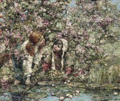 Beside the Lily Pond | Edward Atkinson Hornel | Oil Painting