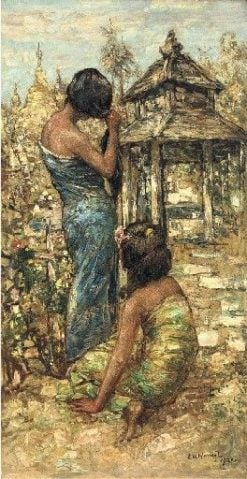 Burmese Hairdresser | Edward Atkinson Hornel | Oil Painting