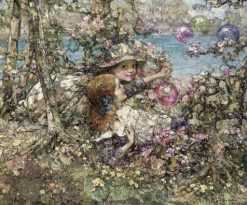 Balloons in the Woods | Edward Atkinson Hornel | Oil Painting