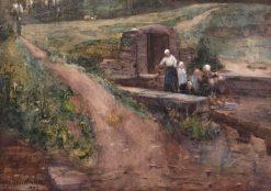 Washerwomen at Gréz   Arthur Melville   Oil Painting