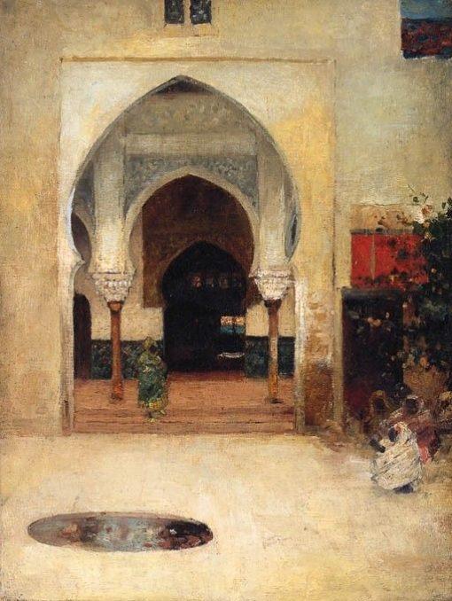An Oriental Courtyard   Arthur Melville   Oil Painting